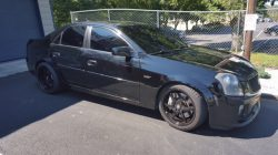 cadillac cts-v with black out window tint