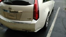 rear of cadillac suv with window film