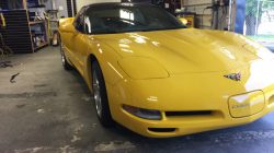front of corvette that we just finished tinting