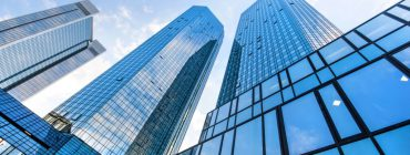 commercial buildings with tinted windows