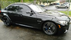 bmw with black window tint