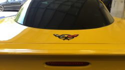 rear glass on corvette with tint