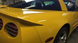 side view of corvette that has been tinted