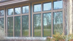 large windows with dark window film