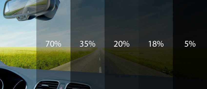 different shade of window tint