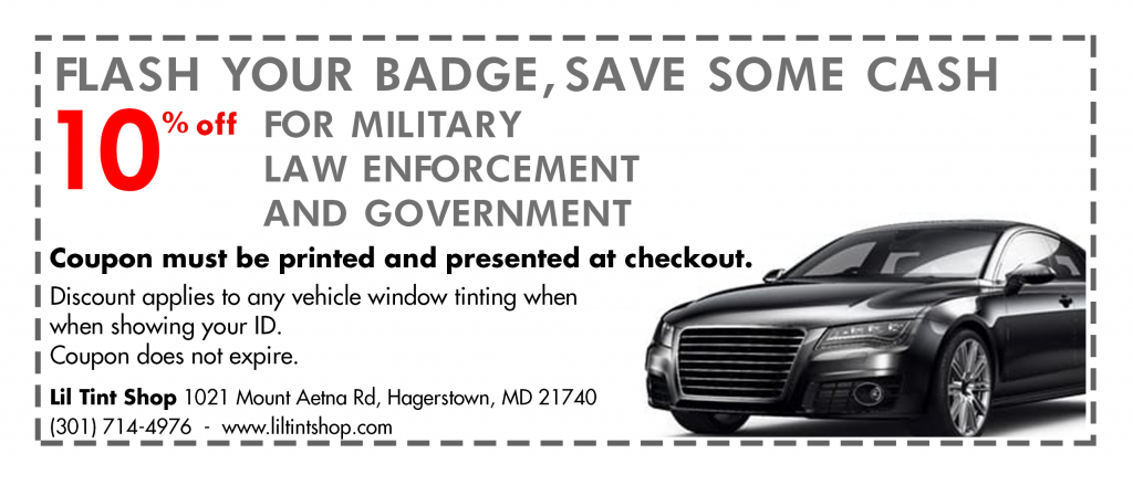 Maryland Tint Laws >> Automobile Window Tinting Services In Hagerstown Md